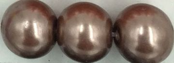 78 Brown - glass pearls - beads - all sizes
